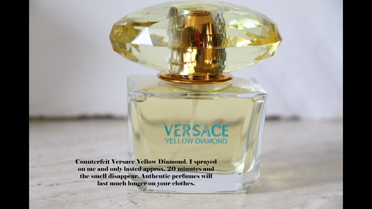 How To Spot A Fake Versace Yellow Diamond Perfume