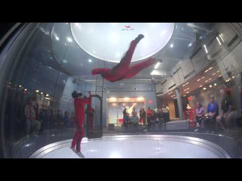 IFLY Houston - indoor skydiving - second flight!