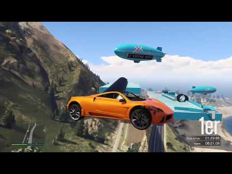 COMPILATION R2 RACE GTA 5 WTF Course sans toucher la manette