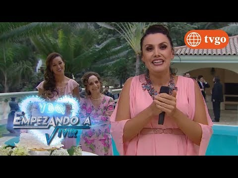 ¡María Elena se cae a la piscina en plena presentación! - VBQ Empezando a vivir 03/01/2018