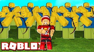 ARMY OF NOOBS ARCHERS at ROBLOX → Army Control Simulator 🎮