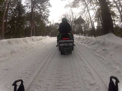 GOPRO Snowmobiling in Three Lakes Wisconsin
