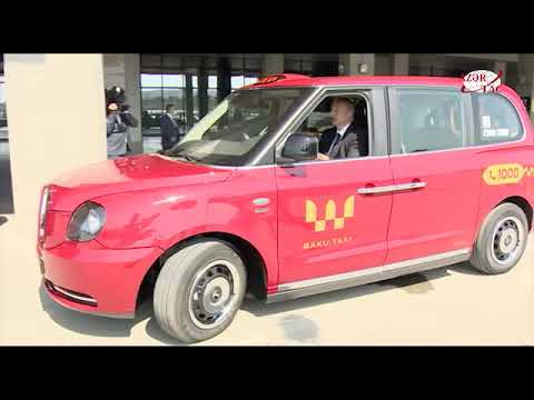 President Ilham Aliyev viewed new TX London taxis delivered to Baku