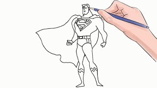 How to Draw Superman Easy Step by Step