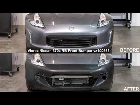 Remix Custom Compatible with Front Bumper Lip Spoiler PU Body Kit Fits 2009-2011 Nissan 370Z