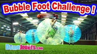 BUBBLE FOOT Challenge euro 2016 en famille ! - Démo Jouets