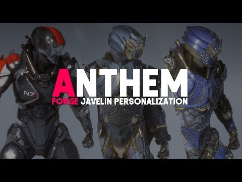 Anthem   Javelin Customization First Look! THE FORGE