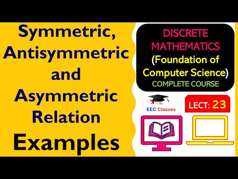 RELATIONS #2- Symmetric, Anti-Symmetric And Asymmetric Relation With Solved Examples