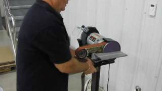 Multitool Belt Grinder Demonstration