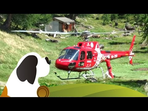Air Zermatt Heli-Transport 2015 Guggialp VS HD | Heli Transport in the Lötschental Valley