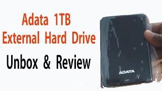 Adata HV620 2 5 inch 1 TB External Hard Drive Black Unboxing amp Review
