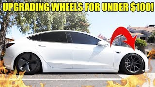 HOW TO UPGRADE TESLA MODEL 3 WHEELS FOR UNDER $100! (SO MUCH BETTER)