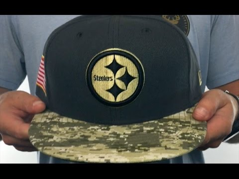Steelers  2016 SALUTE-TO-SERVICE  Grey-Desert Fitted Hat by New Era ... 32665bfc5f4