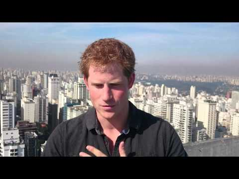 A personal message from Prince Harry at the end of his tour of Brazil