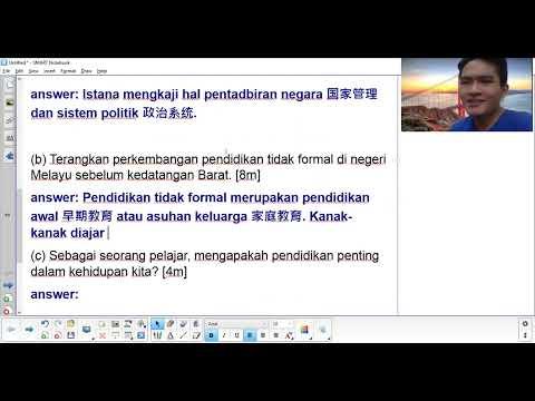 Pt3 Sejarah 11 Tingkatan 3 Bab 1 Pendidikan Formal Dan Pendidikan Tidak Formal Youtube