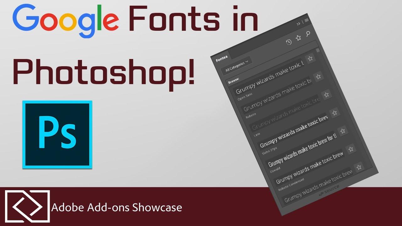Fontea google fonts in photoshop adobe add ons showcase youtube fontea google fonts in photoshop adobe add ons showcase ccuart Images