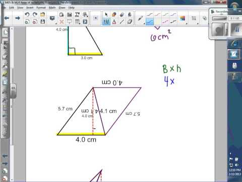 Area of rectangles, triangles & parallelograms and trapezoids