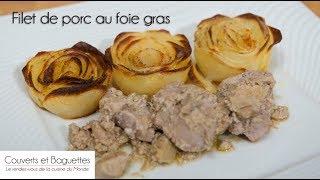 Filet mignon au foie gras et roses de pommes de terre