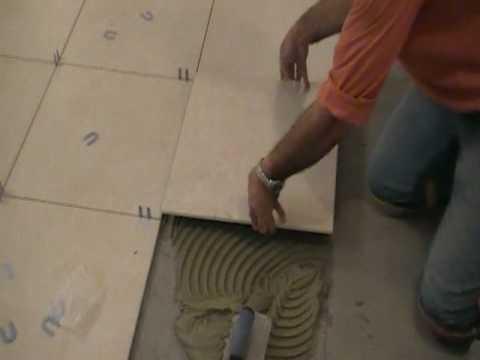 How To Install Porcelain Tiles Or Ceramic Tiles 7 Of 9 Youtube