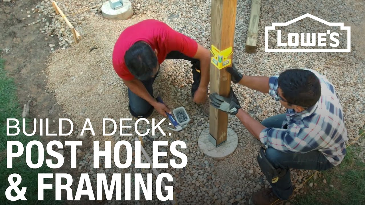 How To Build A Deck Post Holes Amp Framing 2 Of 5 Youtube