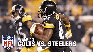 Antonio Brown's Amazing Punt Return TD & Hilarious Goal Post Celebration! | Colts vs. Steelers | NFL