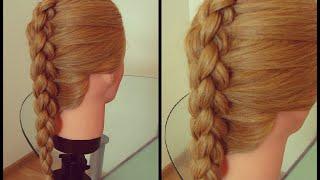 Коса 3D с подхватом. Способ 2. Видео-урок.