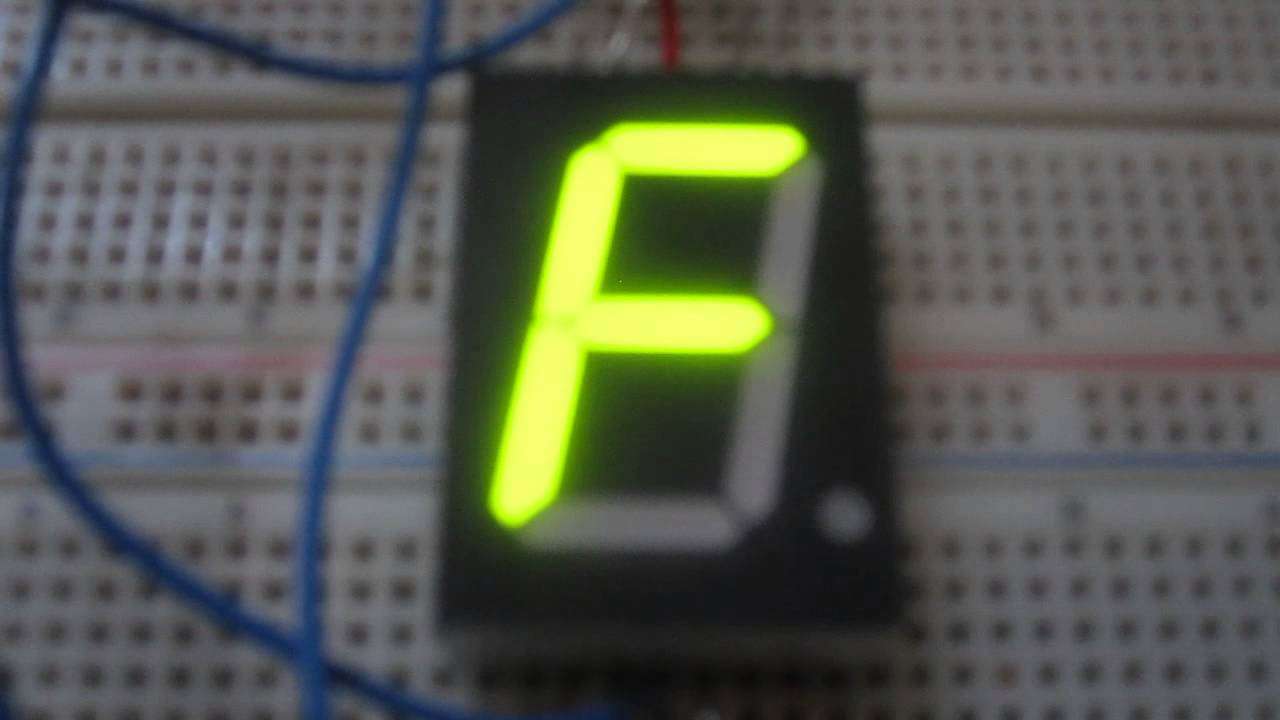 How to Display any Character on a 7 Segment LED Display