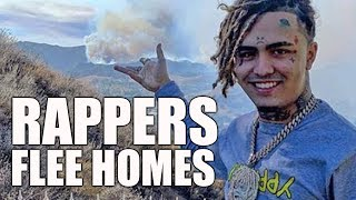 Lil Pump and Kanye West Evacuate Homes Due to California Wildfires