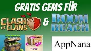 Gratis Gems für Clash of Clans, Boom Beach und mehr! via Appnana / Appjoy