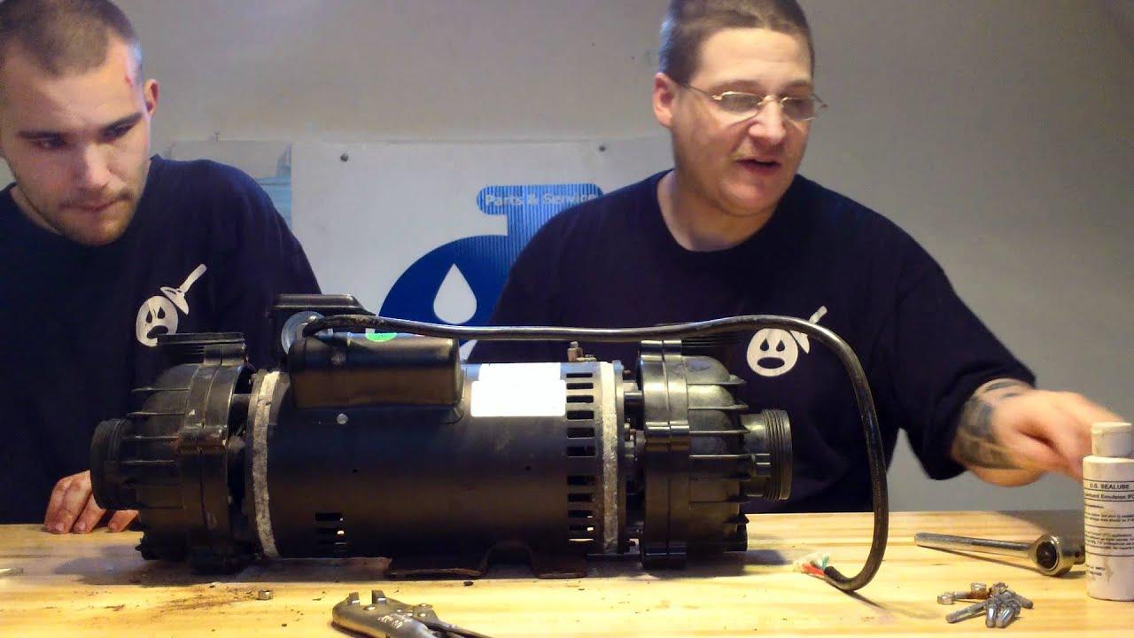 Cal spa prc9093 dually spa pump impeller access youtube for Cal spa dually pump motor