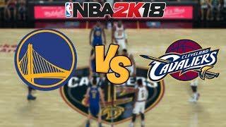 nba-2k18-golden-state-warriors-vs-cleveland-cavaliers-full-gameplay