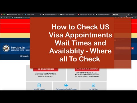 How To Check US Visa Appointments Availability, Wait Times ?  India Consulates ? Twitter ?