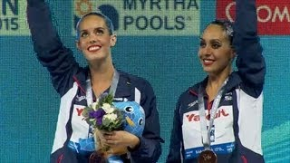 Spain 3rd in 2013 Synchronized Swimming Duet Tech - Universal Sports