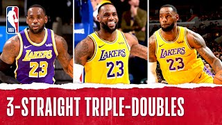 Top Plays From LBJ's HISTORIC 3-Game Stretch!