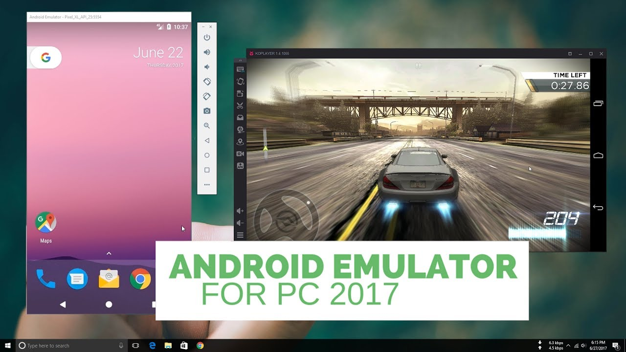 Top 10 Best Android Emulator For PC 2017