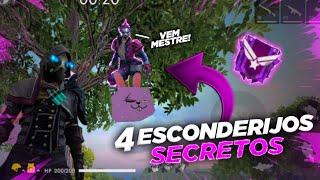 Baixar 4 ESCONDERIJOS SECRETOS QUE TODO MESTRE FAZ!! FREE-FIRE