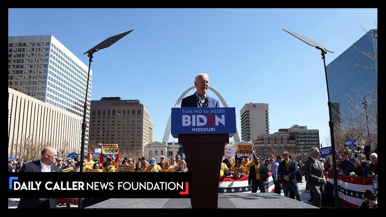 Joe Biden Talks Down Protesters In Kansas City