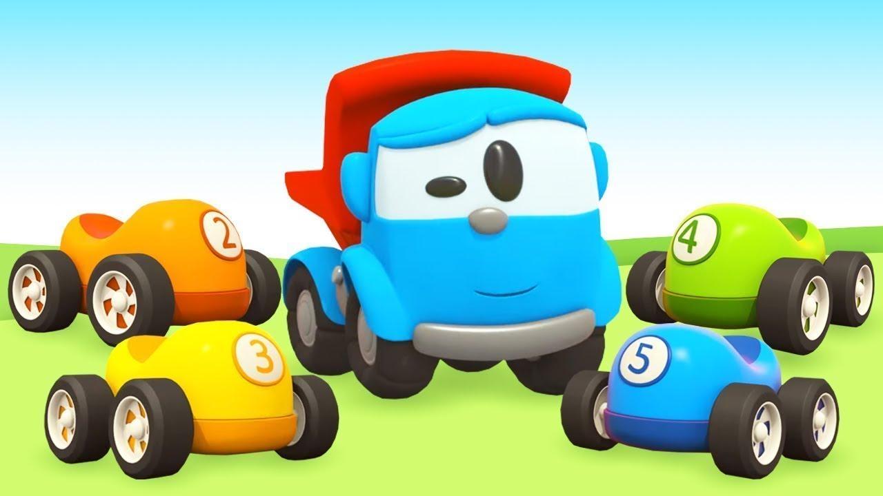 Kinder Cartoon mit Autos   Leo der Lastwagen baut einen ...