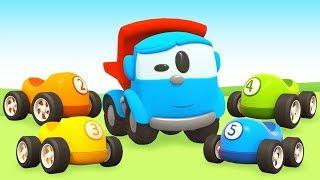 Kinder Cartoon mit Autos - Leo der Lastwagen baut einen Tanklaster