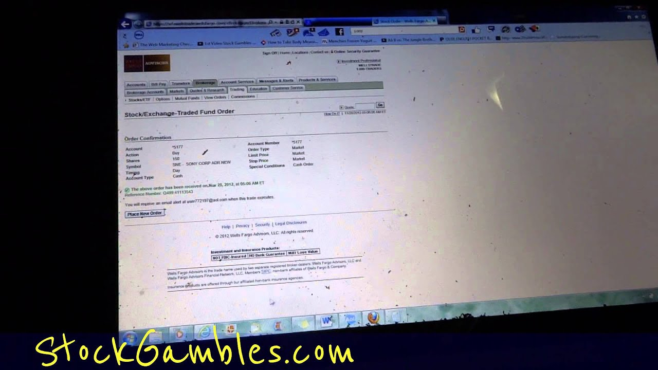 Limit Market Order Stock How To ~ Diy Stocks ~ Buy Sell Stock Buying Sony  Help Online Video