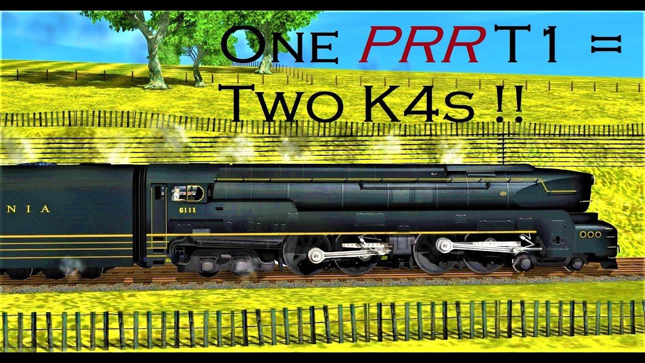 Eliminate the Duo K4s! PRR T1 vs Duo K4s (Trainz)