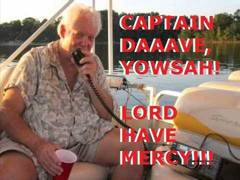"""[7.200 MHz LSB] """"Captain"""" Dave Parrish KI4THY bombarded by QRM on June 12, 2017 [NSFW]"""