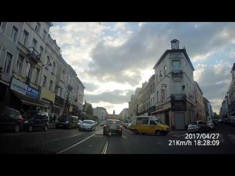 Brussel/Bruxelles driving dashcam 4k from the center to Anderlecht
