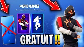HAVE the SKIN 'IKONIK' FREE WITHOUT the SAMSUNG S10 PHONE on FORTNITE SKIN IKONIK S10 😱😨