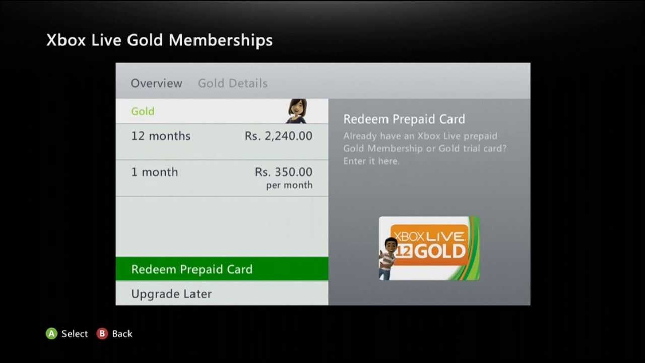 How to get xbox live gold free trial one month old