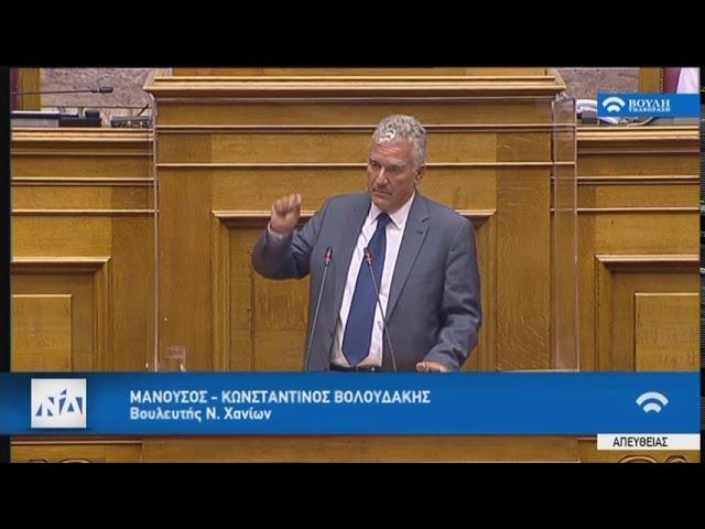 Βολουδάκης στην Ολομέλεια της Βουλής για το φορολογικό νομοσχέδιο (29/07/2020)