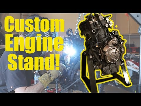 Welding up a Custom Stand for Our 700cc Grom Engine