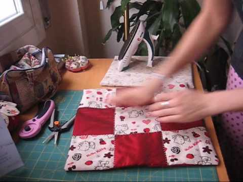 Tutorial funda de cojin en patchwork (cortar y coser)   YouTube