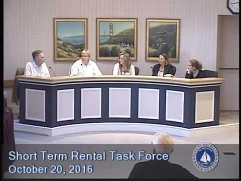 Short Term Rental Task Force - 10/20/2016