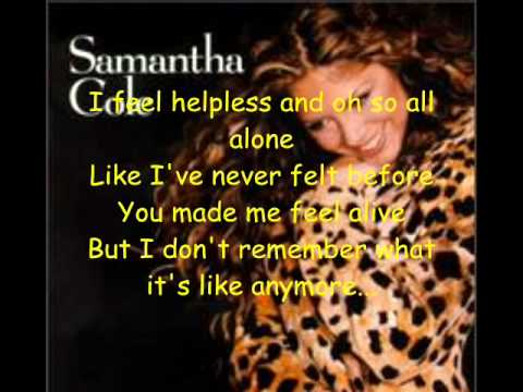 Without You By Samantha Cole With Lyrics
